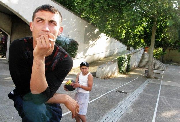 Gitani romeni a Barcellona
